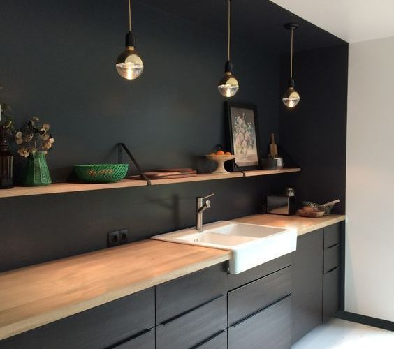 25 Captivating Ideas For Kitchens With Skylights: Cocina Negra Ikea Contemporanea 25 Charming